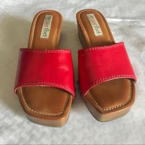 2 Lips Too  Women's Too Lori Red Wedge Sandal